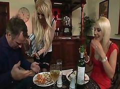 British Threesome At The Bar