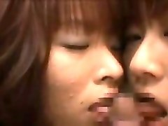 lucky stud has a group of sensual asian girls blowing his h
