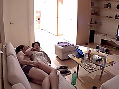 Exhibitionism -Webcam Couple Do It On The Couch