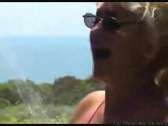 Grannys On The Beach By Korokosan Mature Mature Porn Granny Old Cumshots Cumshot