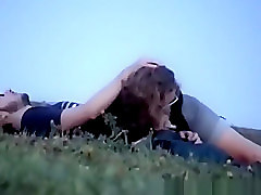 Girl in glasses blowjob in the public park
