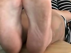 Gypsy girl and her smelly dirty feet at the end my cum