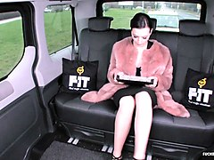 fucked in traffic - sexy ukrainian babe fucks chauffeur in the backseat