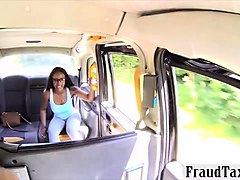 ebony anal toyed and fucked until she squirts in the cab