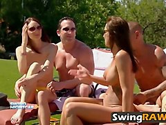 swinger couples enjoying wild orgy in reality show
