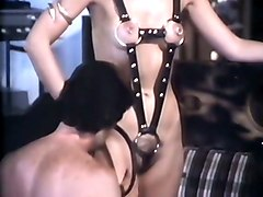 retro style fetish and domination games of a horny white couple