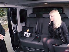 fucked in traffic - sexy czech blonde katy rose gets fucked in the backseat
