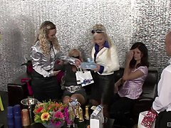sharka blue joins a bunch of babes for a kinky lesbian session