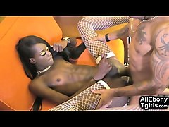 fit black teen trans cums and gets cum!