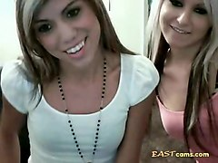 two webcam lesbians having fun and masturbates