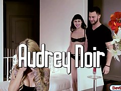 aubrey joins married couple in threesome