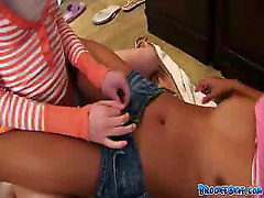 Two Lesbian Babes Enjoy Eating Each Others Pussies