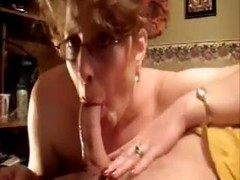 Mature Candy In Glasses Gets Fucked Doggy-style And Deepthroats Cock