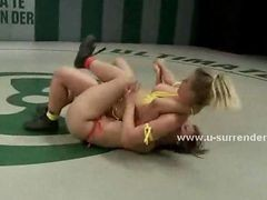 Teen Lesbian Sluts Fight In Kinky Wrestling Match With The Winner Awarded A Strapon