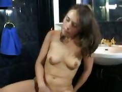Brunette Baby Plays With Hairy Pussy Ass