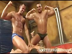 Straight Wrestlers Group Sex
