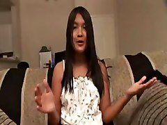 Asian Chick Fingering Button For A Cam