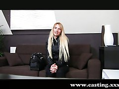 Shy Blonde Exploited In Casting